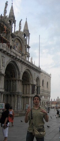 Me, telling something about the Basilica of San Marco