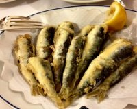 Fried Sardines Venice Italy Restaurant