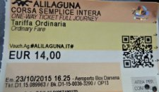 Alilaguna ticket from airport to venice