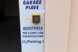 Parking outside Venice Italy