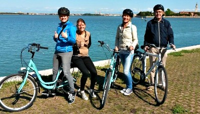 Mestre to Venice with bicycle