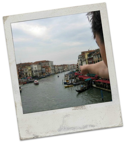 View from Rialto Bridge Venice Italy