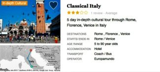 Classic Italy Trip with Venice Holidays you can get it!