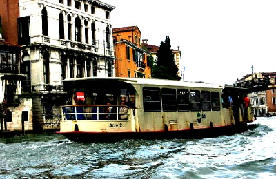 Vaporetto on the Grand Canal Venice Italy