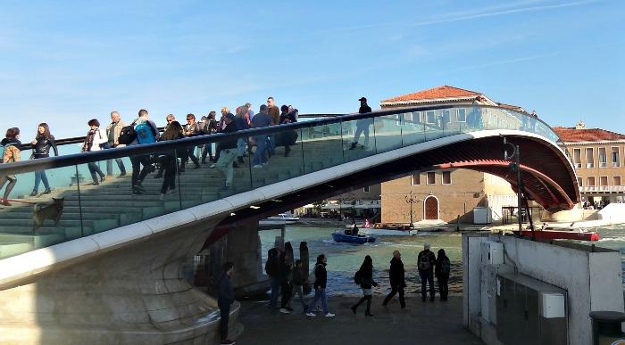 Slippery Calatrava Bridge Venice Italy