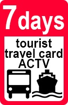 Tourist Travel CArd from Mestre to VEnice