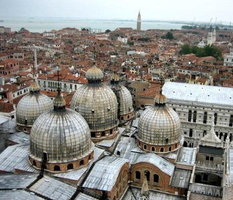 Basilica di San Marco Venice from above