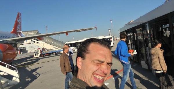 landing Marco Polo Airport Venice