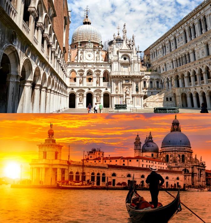 Visit with childeren in venice italy the doge palace