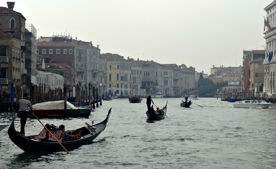 Gondola on the Grand Canal Venice Italy