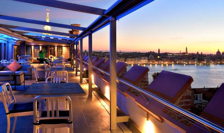 Hilton Venice Italy - Molino Stucky roof bar