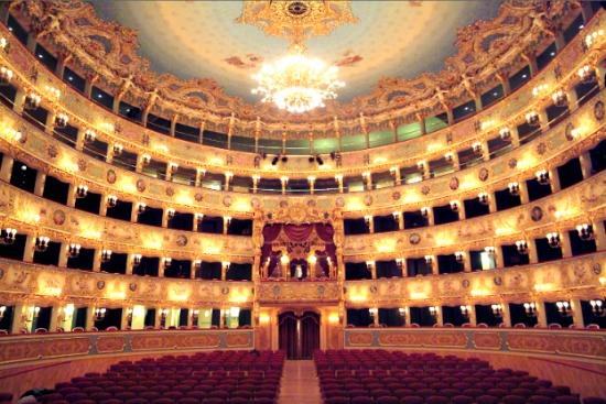 Inside the Teatro la Fenice opera