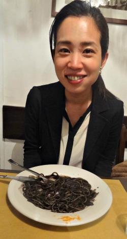 Black Squid pasta Venice Italy Restaurant