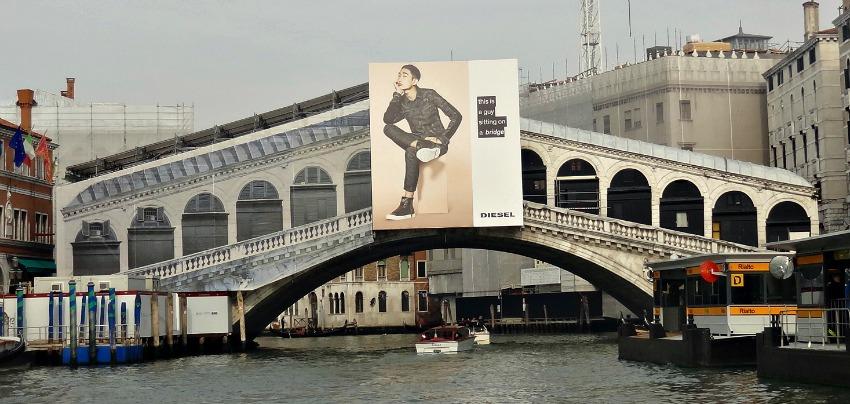 A Sponsored Rialto Bridge Venice Italy