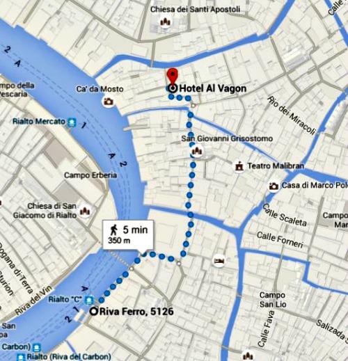 Route Hotel venice Italy