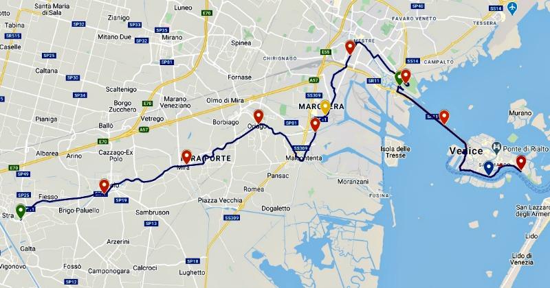 42KM marathon venice route