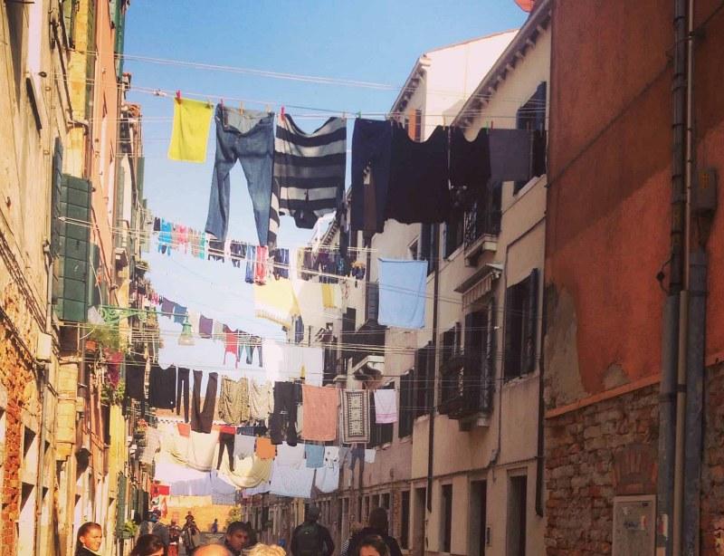 Laundry at Venice Italy Holiday