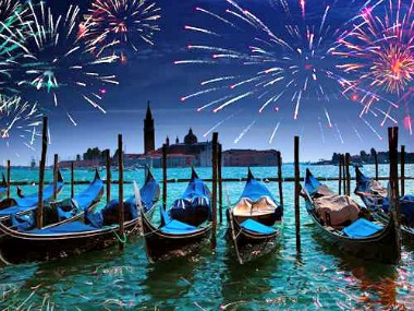 Venice Italy New year
