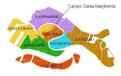 Map of Campo Santa Margherita