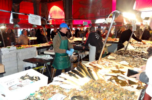 Fish Market in Venice Rialto