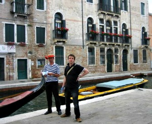 Things to do in Venice Italy talking to Gondola