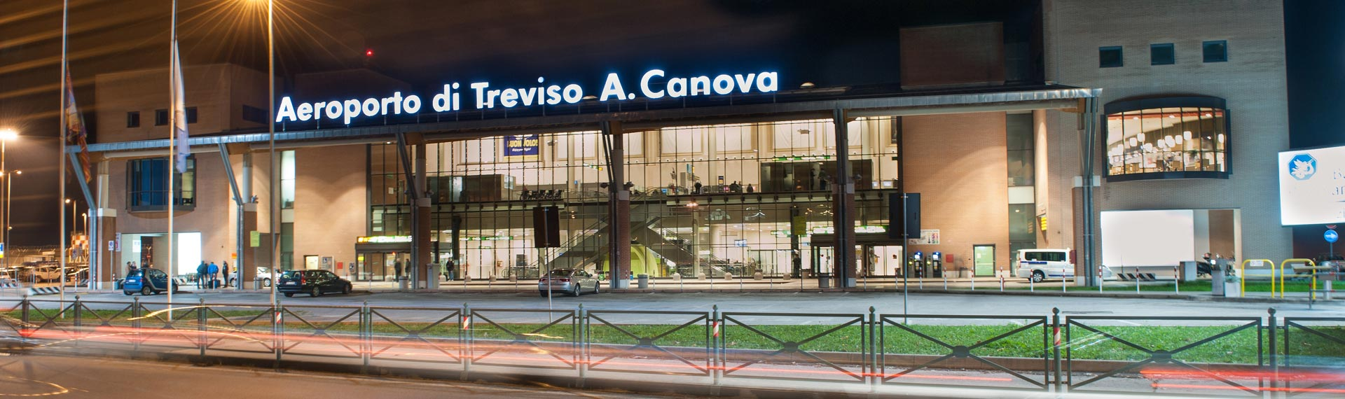 Treviso Airport by night front