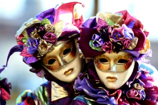 Shopping for masks in Venice Italy