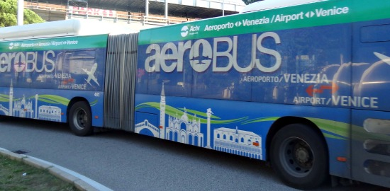 Aerobus from Airport to venice