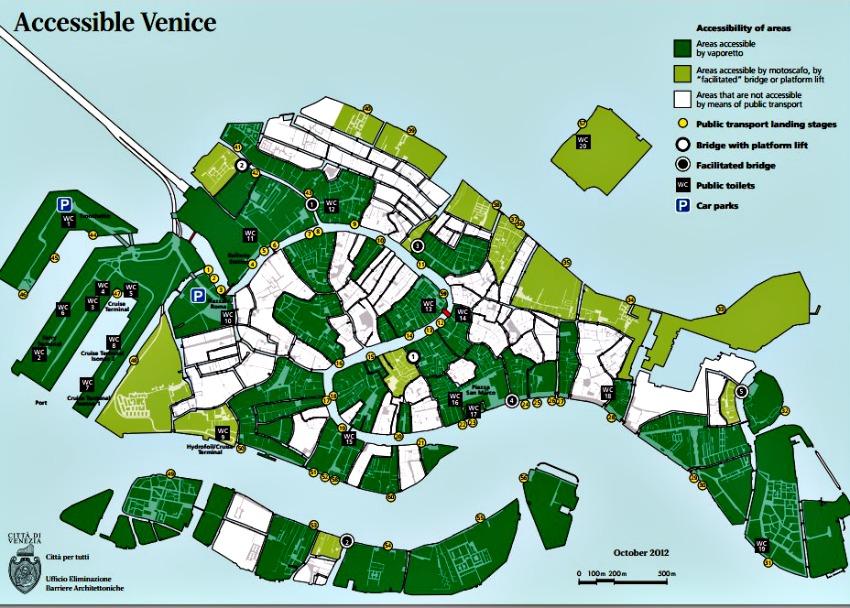 Wheelchair access Venice Italy