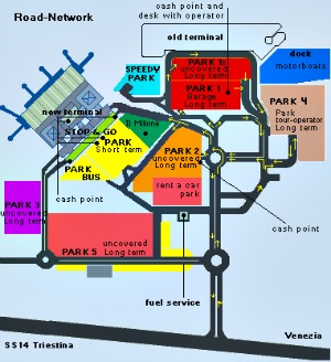 Marco Polo Airport Parking facilities Venice