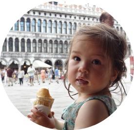 Ice cream Venice Italy